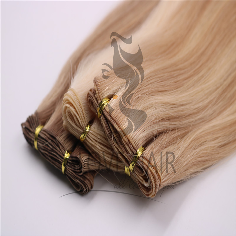 Double Drawn European hair hand tied extesnions New South Wales