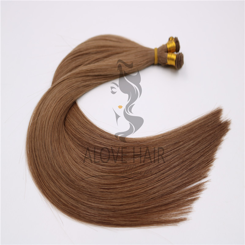 High quality double drawn hand tied wefts for Netherlands hair salon
