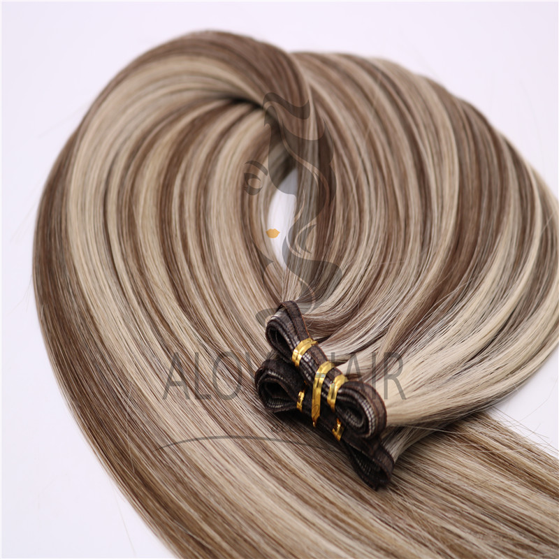 High quality flat wefts vendor