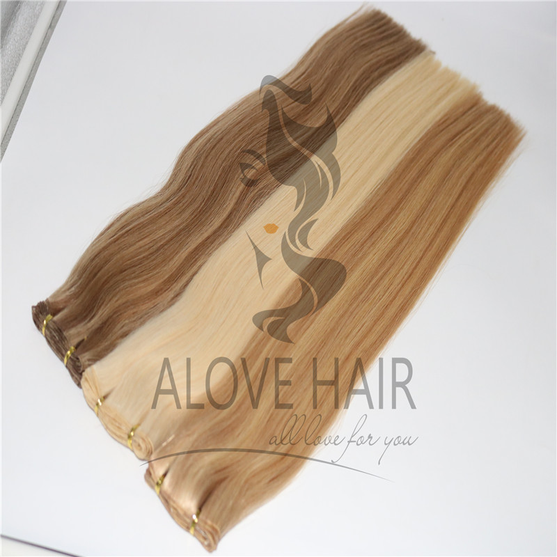High quality remy hand tied extensions for hairdresser