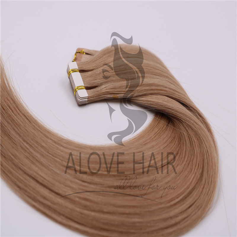 High quality tape in hair extensions for hair salon and hair stylists