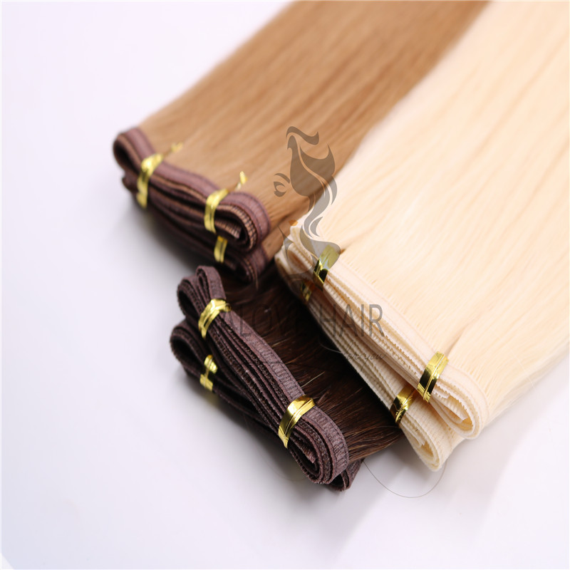 New arrival flat silk weft hair extensions 2021