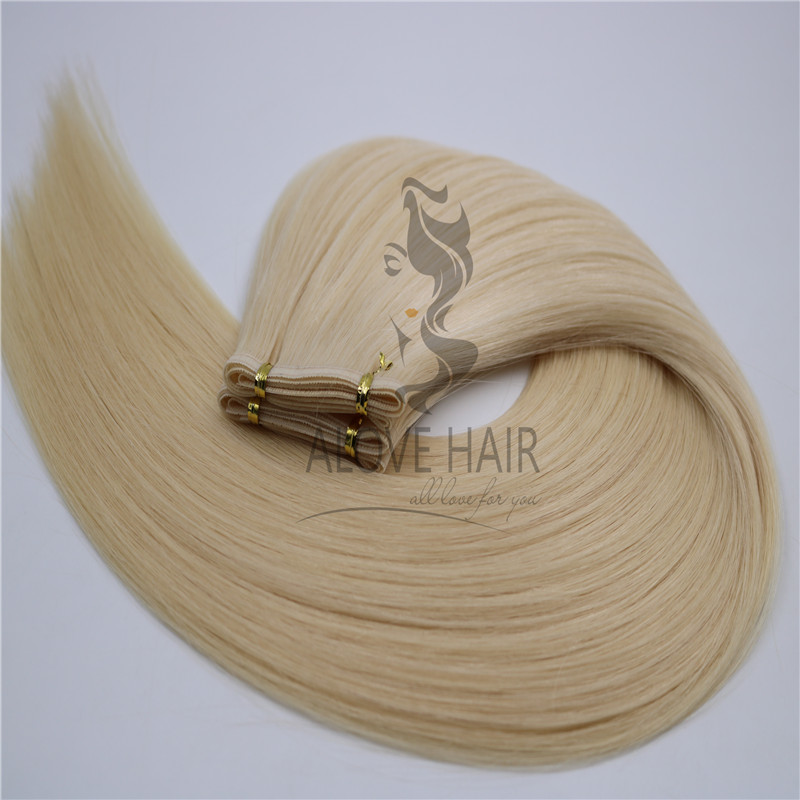 Wholesale high quality cuticle intact remy flat weft hair extensions