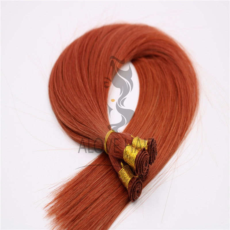 Wholesale indian temple hair hand tied hair extensions